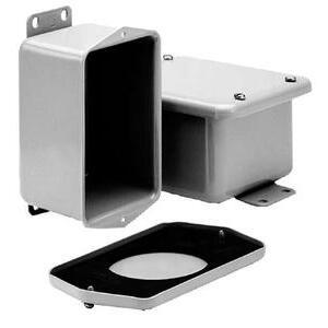 "Hoffman A843DSC Junction Box, NEMA 12, Flat Screw Cover, 8"" x 4"" x 2.75"""