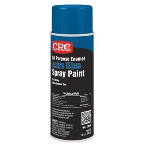 CRC 18002 Enamel Spray Paint, All-Purpose, Blue, 10 Ounce