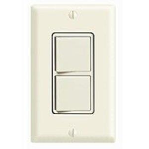 Leviton 5640-I Combination Decora Rocker Switch, (2) 3-Way  Switches, 20A, Ivory