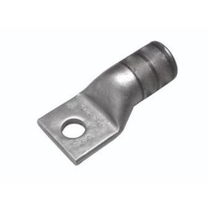 "Burndy YAG25LTC38FX Compression Lug, 1-Hole, Copper, Flex, 1/0 AWG, 3/8"" Stud Size"