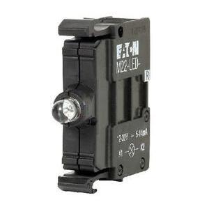 Eaton M22-LED-W Pilot Device, 22mm, Lamp Block, White, LED, M22, Front Mount