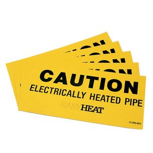 Easyheat CS Heated Pipe Caution Labels