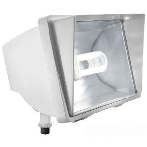 RAB FF42QTW Flood Light, Compact Fluorescent, 1 Light, 42W, White