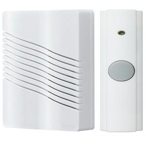 """Nutone LA226WH Wireless Chime, Portable, White, Dimensions: 6"""" x 7-5/8"""" x 2-1/4"""""""