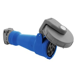 Hubbell-Kellems HBL560C9W Watertight IEC Pin and Sleeve Connector, Blue