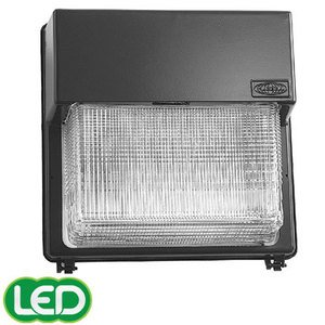 Hubbell - Lighting PGL-400S-128-1 Wallpack, High Pressure Sodium, 1 Light, 400W, 120-277V, Bronze *** Discontinued ***