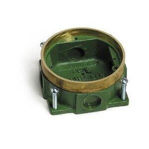 Lew 332-58 SHALLOW, SEMI ADJ FLOOR BOX, BRS
