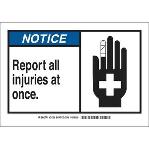 26573 B401 10X14 ANSI BLK,BLU/WHT REPORT