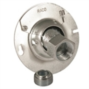 "Hubbell-Raco 894KH Swivel Fixture Support Cover, Diameter: 3-1/2 to 4"", Steel"
