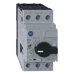 Allen-Bradley 140M-D8E-C25 Breaker, Motor Protection, 25A, D Frame, 3P, High Magnetic