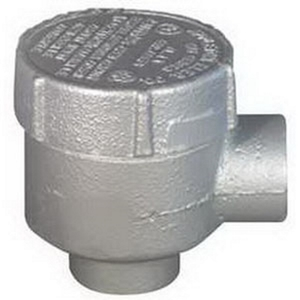 "Appleton GRJEA50 Conduit Outlet Box, Type GRJEA, (2) 1/2"" Hubs, Malleable Iron"