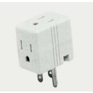 Eaton Wiring Devices 1482B-BOX CUBE TAP 3 OUTLET 15A