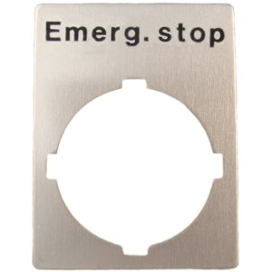 ABB SK-615-552-15 22mm Legend Plate, Emergency Stop, Modular