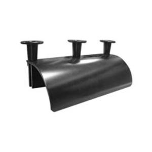 "Chatsworth 12101-701 Runway Radius Drop, Stringer, Universal, 10-1/4"" Width, Black"