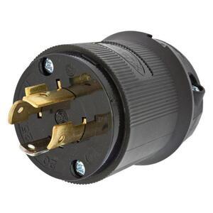 Hubbell-Wiring Kellems HBL2411BK LKG PLUG, 20A