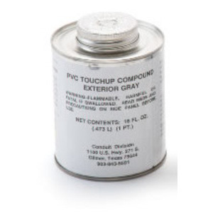 Plasti-Bond PBTOUCHUP-GRAY-PT PVC Gray Touch-Up - Pint Can, Brush Top