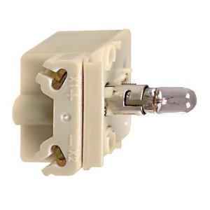 Square D 9001KM1 Light Module, 30mm, 120VAC, Transformer, Incandescent, BA9S