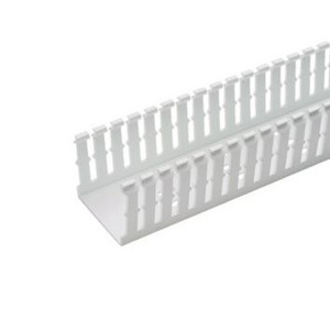 "Panduit F2X4WH6 Wiring Duct,  Narrow Slot, 2"" x 4"" x 6', PVC, White"