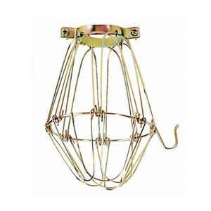 Satco 90-1310 BRASS LIGHT BULB CAGE