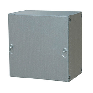 "E-Box 181812SC Enclosure, NEMA 1, Screw Cover, 18 x 18 x 12"", Steel/Galvanized"