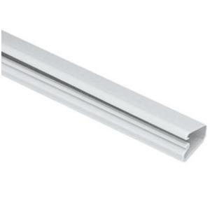 "Panduit LD3IW8-A Non-Metallic Surface Raceway, One-Piece, Hinged, 3/4"" x 8', Off White"