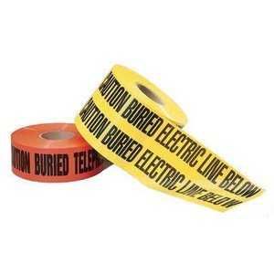 "Ideal 42-152 Caution Tape, Non-Detectable Underground, 6"", Yellow"