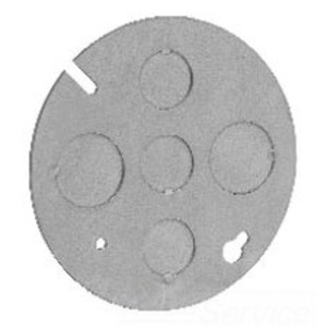 """Cooper Crouse-Hinds TP648 Concrete Ring Cover, 4"""", 1/2"""" & 3/4"""" KOs, Steel"""