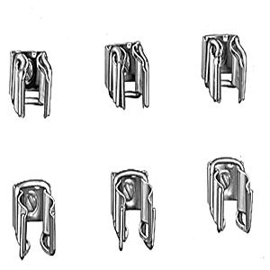 Allen-Bradley 1401-N52 Fuse Clip Kit, 30-100A, 600VAC, Type R Fuses