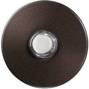 "Nutone PB41LBR Pushbutton, Illuminated, 24VAC/DC, Diameter: 2-1/2"", Bronze"