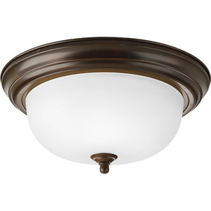Progress Lighting P3925-20ET 2-Light Flush Mount, Ceiling Fixture, 75W, 120V