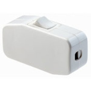 Leviton 5410-W Feed-Through Cord Switch, SPST, White