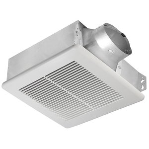 Delta Products SLM80 80 CFM Single Speed Exhaust Fan, 8.5W, 0.6 Sones