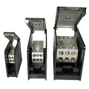 Burndy BDBLHC225001 Power Distribution Block, 1-Pole, (2) 4 - 500 Run/Tap