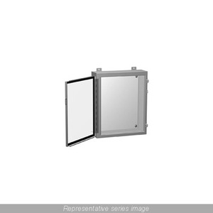 Hammond Mfg 1418J8 Enclosure, Wall-Mount, NEMA 12 Continuous Hinge With Clamps