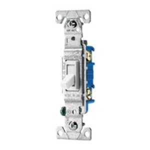 Eaton Arrow Hart 1303-7A Residential grade toggle switches 3-way, back wire, side wire & push wire