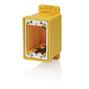 FDBX1Y YEL PVC SGL GANG FD BOX