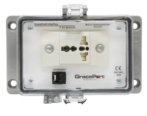 Grace Technologies P-R2-M3RUV0 Programming Port, Cat 5e Ethernet, Size M, Type 4-IP65