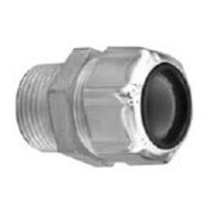 "Thomas & Betts 2521 Cord Connector, Strain Relief, Straight, Male, 1/2"", Zinc Die Cast"