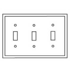 Eaton Wiring Devices 2141W-BOX WALLPLATE 3G TOGGLE THERMOSET STD WH