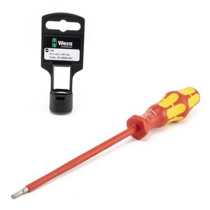 "Wera Tools 05100005001 VDE Insulated Screwdriver, 5/32""-6"""