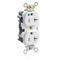 M8300-HW WHT RECPT DPLX HG SLIM 20A125V