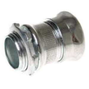 """Hubbell-Raco 2904 EMT Compression Connector, 1"""", Concrete Tight, Steel"""