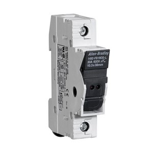 Allen-Bradley 1492-FB1M30-L Fuse Holder, Midget Size, 30A, 1P, 110 - 600V, with Indicator