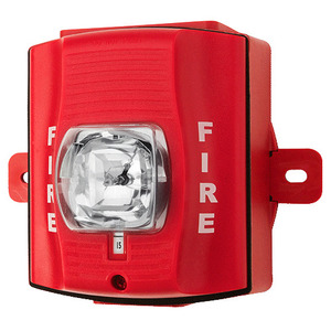 Honeywell SRK Strobe, Outdoor, Wall Mount, 12/24VDC, Red