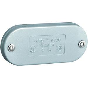 "Hubbell-Killark 270CSA 3/4"" Cast Aluminum Form 7 Conduit Cover"