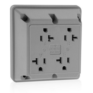 21254GY GY REC 4IN1 2P/3W GROUND 20A125V