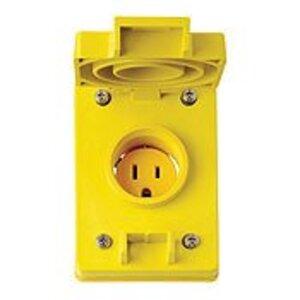 Leviton 60W47 15 Amp Corrosion Resistant Receptacle, Cover & Gasket, 125V, Wetguard