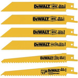 DEWALT DW4856 6PC Metal/Woodcutting Reciprocating Saw Blade Set