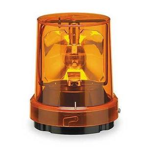 Federal Signal 121S-120A Beacon, Rotating, Incandescent, Amber