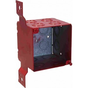 "Orbit Industries FA-4SEDB-CKO-FB Fire Alarm Box, 4"" Square, 3-1/2"" Deep"
